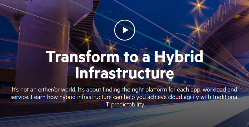 Transform to a Hybrid Infrastructure icon