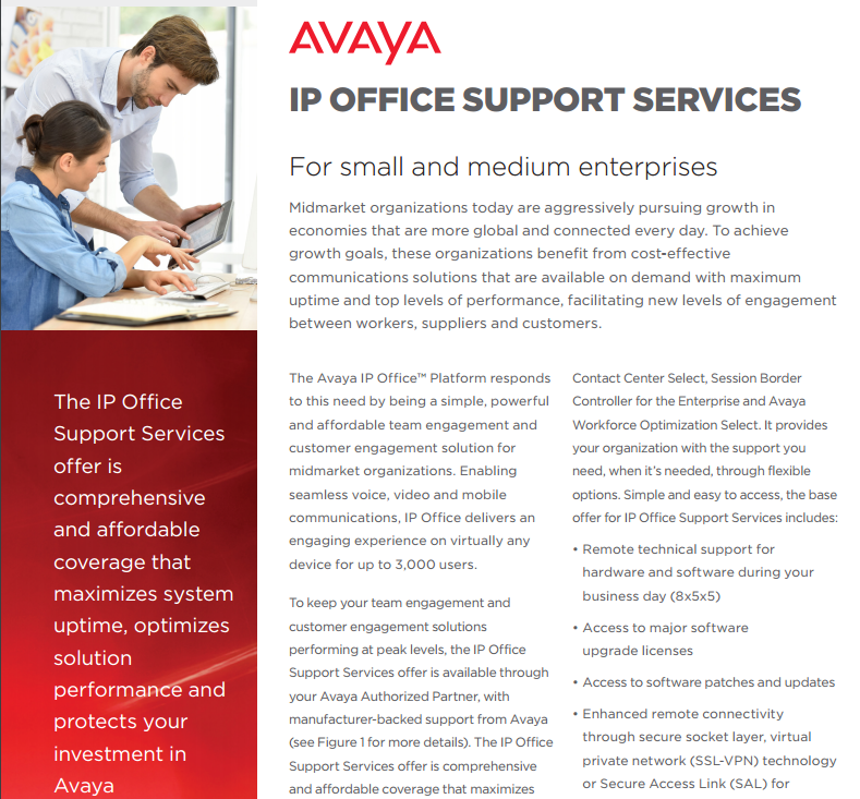 Avaya Ip Office Support Services Laketec