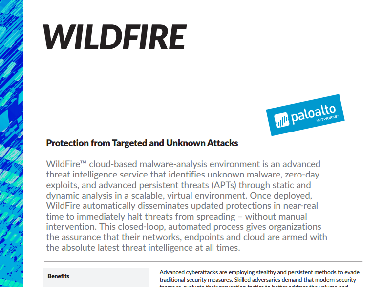 Palo Alto Wildfire Datasheet - Laketec