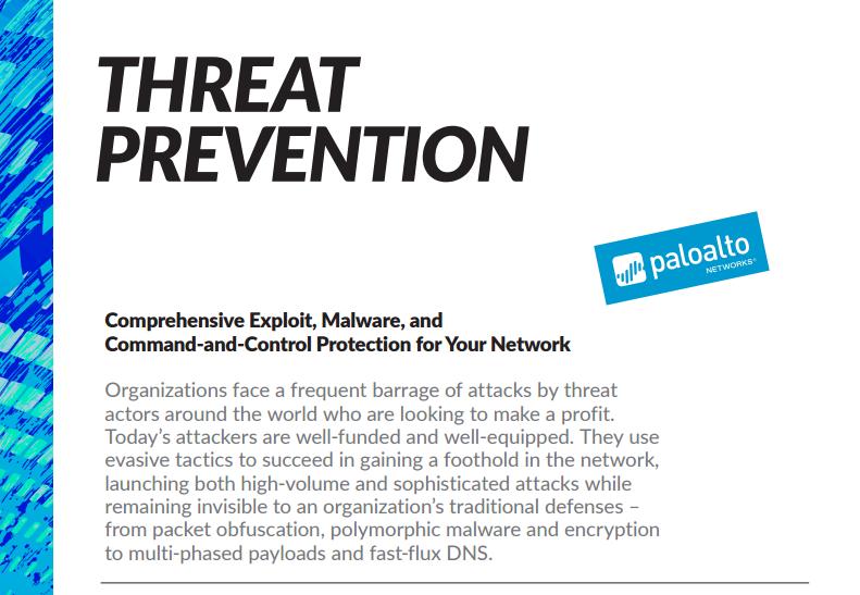 Palo Alto Threat Prevention Data Sheet - Laketec