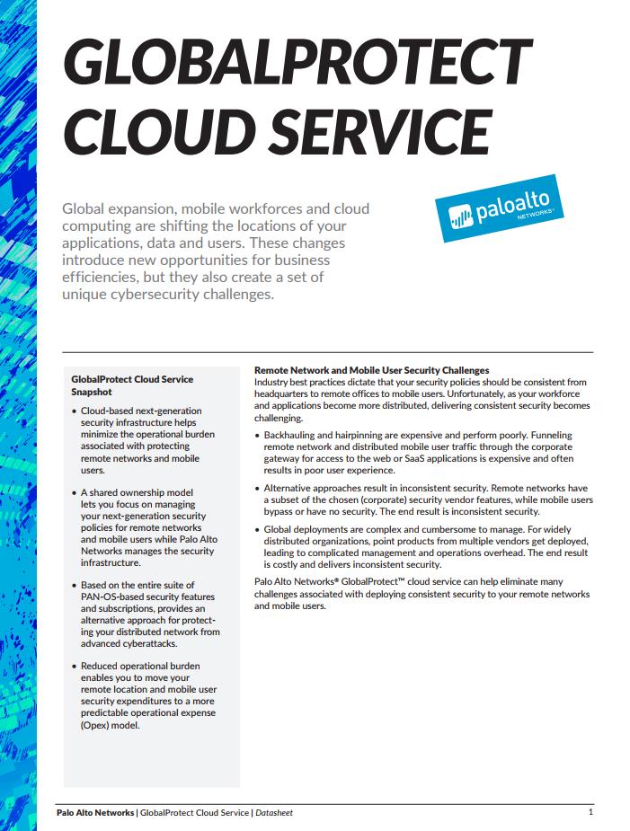 Palo Alto GlobalProtect Cloud Service - Laketec